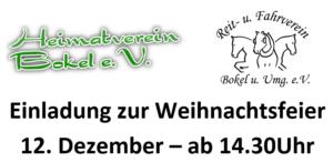 Weihnachstfeier Reitverein und Heimatverein Bokel @ DGH und Reithalle Bokel