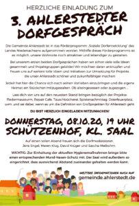 3. Dorfgespräch in Ahlerstedt @ Schützenhof Ahlerstedt